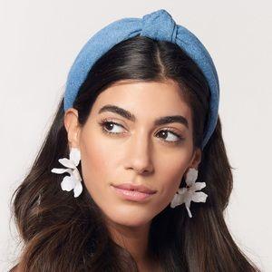 NWT Lele Sadoughi Small Paper Lily Earrings